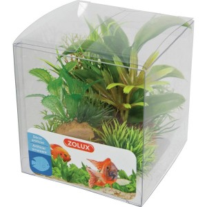 d coration aquarium plantes en plastique x6 aquaprems. Black Bedroom Furniture Sets. Home Design Ideas