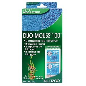 Mousse bleue pour aquarium DUO MOUSS 100