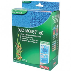 Mousse de rechange pour filtre d'aquarium MOUSS DUO 160